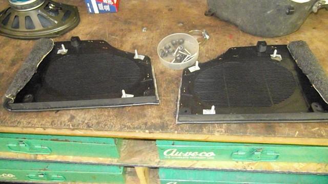 131 rear speaker grills removed