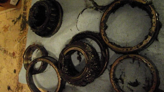 154 old wheel bearings