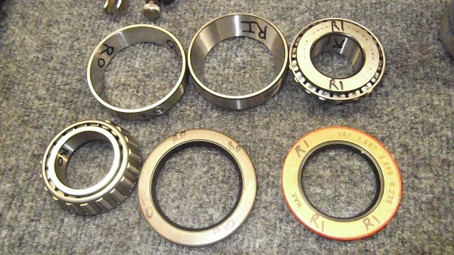 231 RH wheel bearings labelled