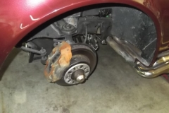 110 wheels removed