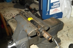 125 LH tie rod sleeve, ends are removed, threads cleaned and degreased