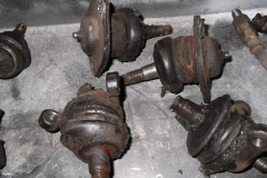 135 ball joints removed - uppers are original to the car