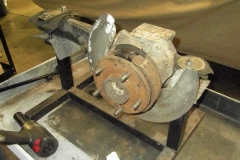 212 LH trailing arm in fixture for rebuild