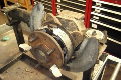 227 new axle pressed in