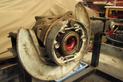 234 RH packed with grease, new bearing, and new parking brake hardware