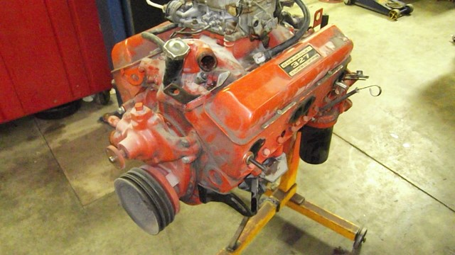 354 engine removed