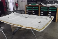 243 rear deck lid stripped ready for painter