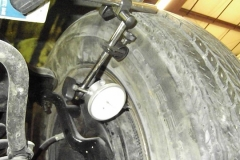 350 measuring LR wheel runout using front hub - has over 1 inch bend