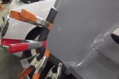 398 inner fender seals being installed