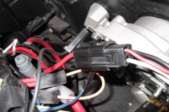 149 this 3 wire harness was taped away and not connected