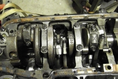 172 oil pan removed for inspection