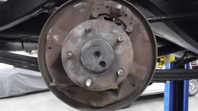 133 rear brake backing plate cleaned
