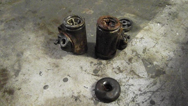 146 front wheel cylinders full of sludge and leaking