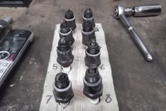 125 spark plugs as removed