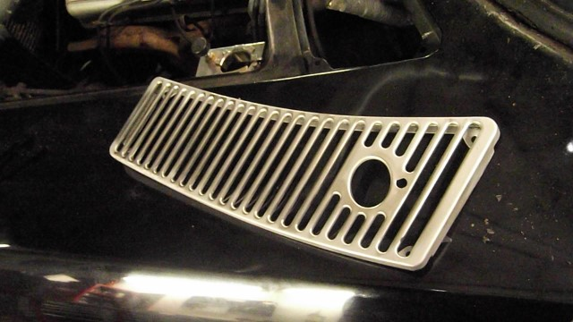 239 cowl grills bead blasted to bare metal