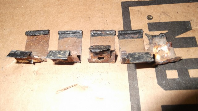 563 sill plate wire cover retainers - note one is rusted in half