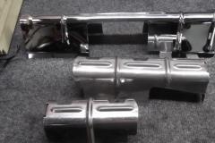 128 Chrome plug shielding ok - stainless shielding will need polished