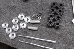 156 sway bar end link incorrect bolts will be plated - bushings are ok