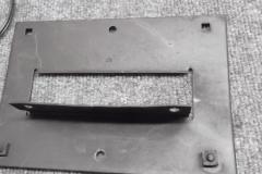 166 front license bracket needs straightened and restored