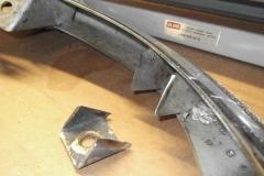 250 RH rear bumper bracket cut off for fitment