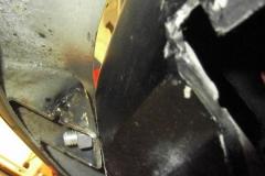 257 bracket tack welded at LH rear