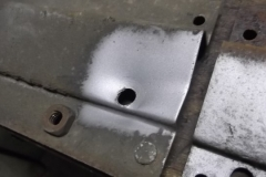 677 seat reinforcements under body have extra holes and are smashed and bent