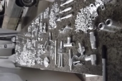 857 50 pounds of original freshly cad plated hardware