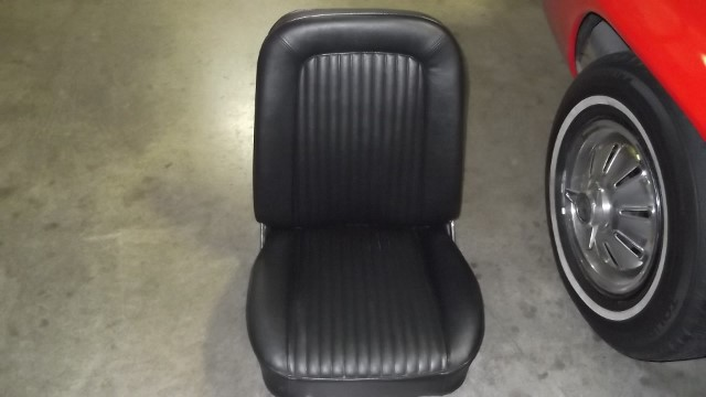 150 seat upholstery finished