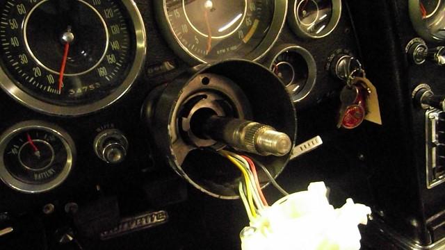 159 rebuilt top of steering column