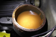130 brake fluid slightly low and milky
