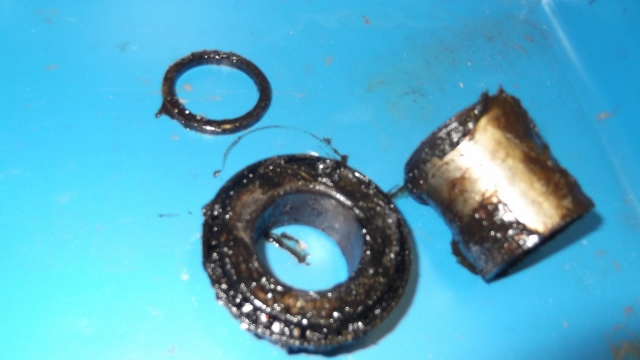 134 old shim, spacer, bearing removed