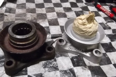 156 flange as removed and as bead blasted