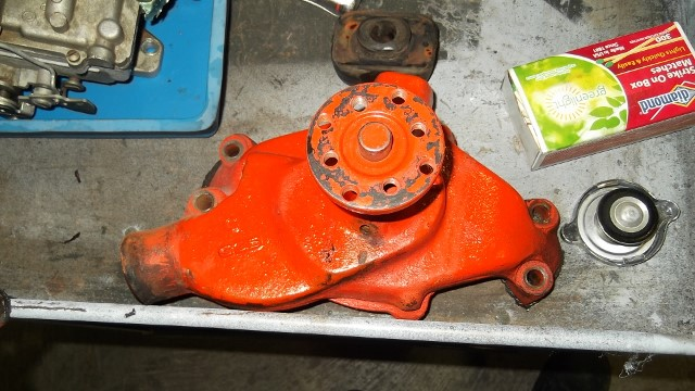123 water pump removed
