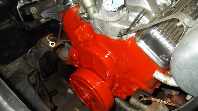 136 front of engine painted