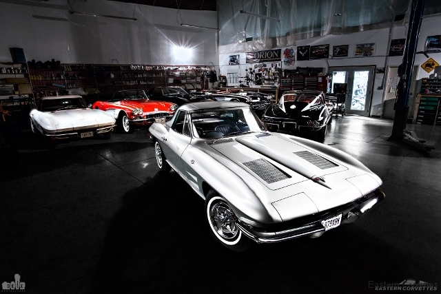 159 Eastern Corvettes 1963 340hp restoration photography by DKFX