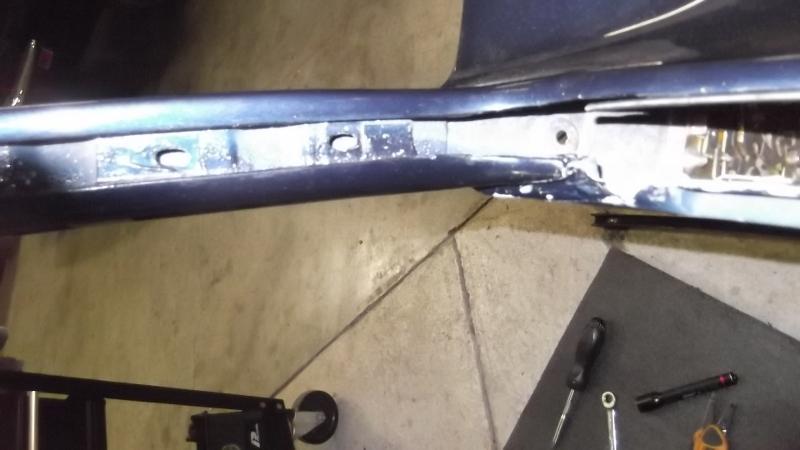 101 LH door glass surround trim removed