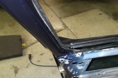 117 rubber seal installed to stainless trim and assembly installed to car