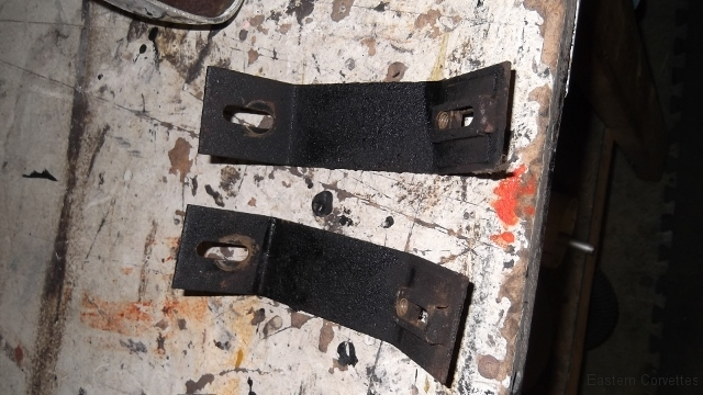121 rear license and valence reinforcement brackets as removed