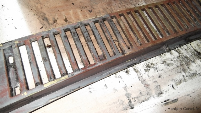 125 cowl grill removed and during stripping