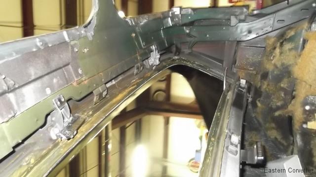 205 interior roof trim panels removed