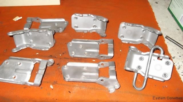 216 blasted door hinge components