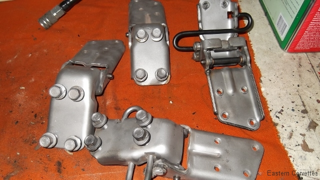 219 hinges assembled as indexed and ready for primer