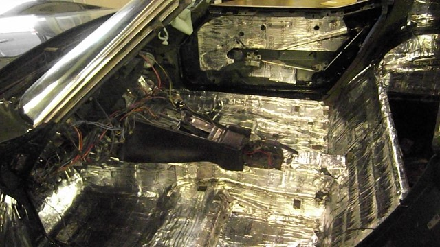 259 floor compartment covered in 2 layers of deadener