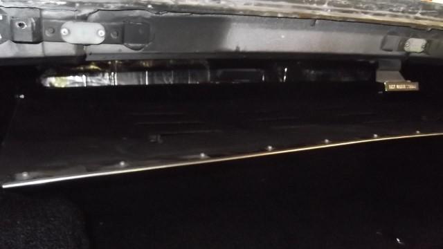 270 rear window storage tray installed