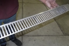 126 cowl grill stripped - ready for painter