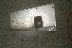 127 antenna ground plate removed - is bent will be straightened