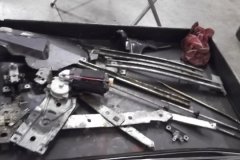 185 hardware removed from LH door