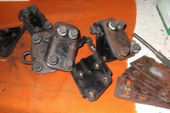 215 door hinges and shims disassembled and indexed