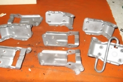 216 blasted door hinge components