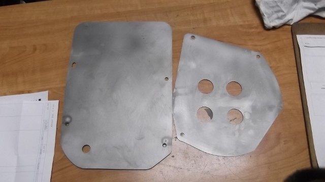 116 firewall brackets stripped and ready for paint